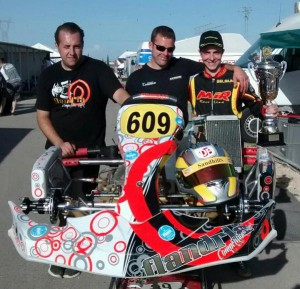 Kristof, Birger and Mathias with P2 Trophy